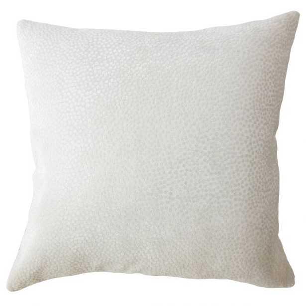 "Haines Solid Pillow Mushroom - 24""x24"" w/ Down insert - Linen & Seam"
