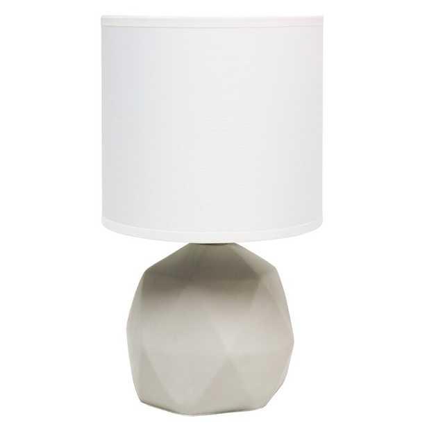 "Sweetser 10.6"" Gray Table Lamp - Wayfair"