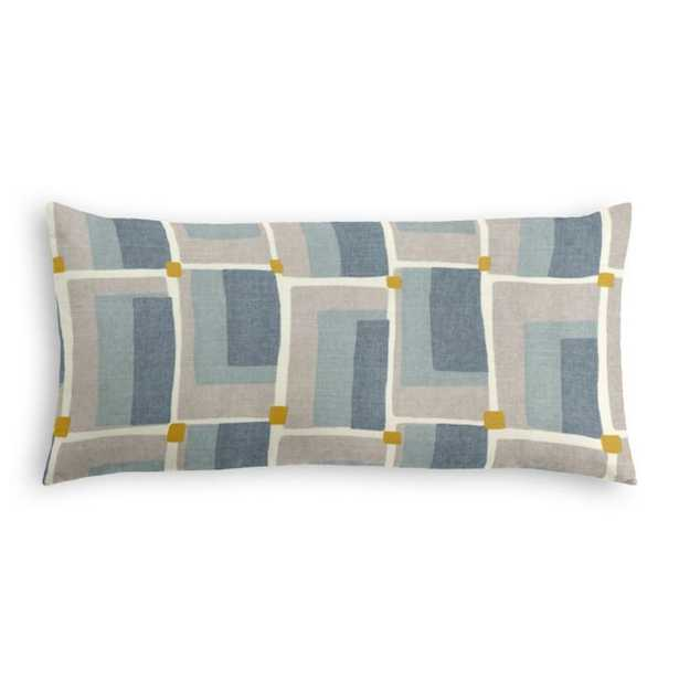 Lumbar Pillow -  Aldo Geo - Aquatint - Poly Insert - Loom Decor