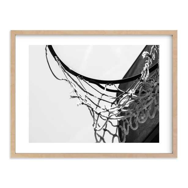 """Hoop Dreamin' Wall Art By Minted®, 30""""X40"""", Natural - Pottery Barn Teen"""