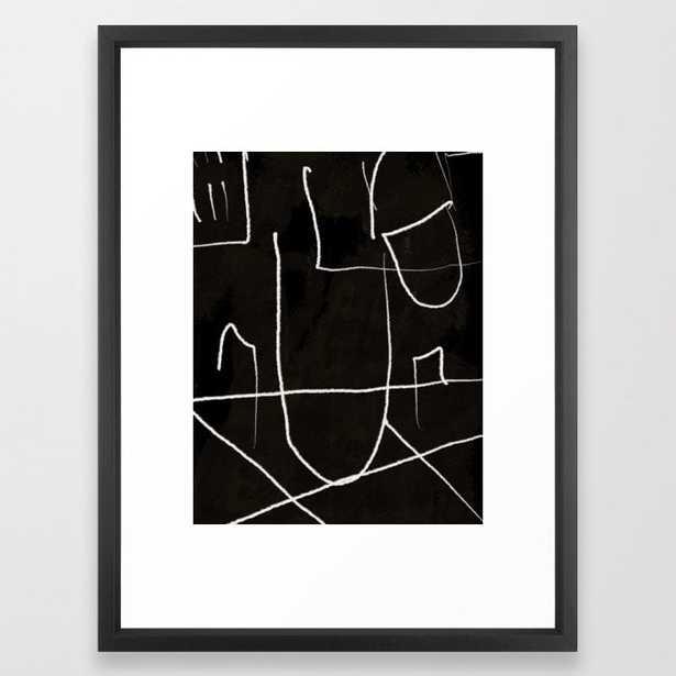 "Diluted Room III Framed Art Print, Vector Black, 20"" x 26"" - Society6"