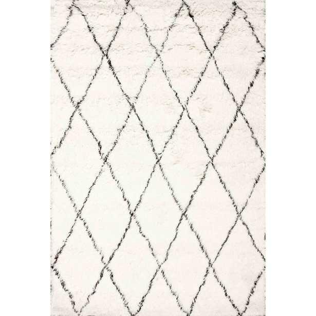 Mercury Row Dunford Handwoven Wool Ivory Area Rug - 5x7 - Wayfair