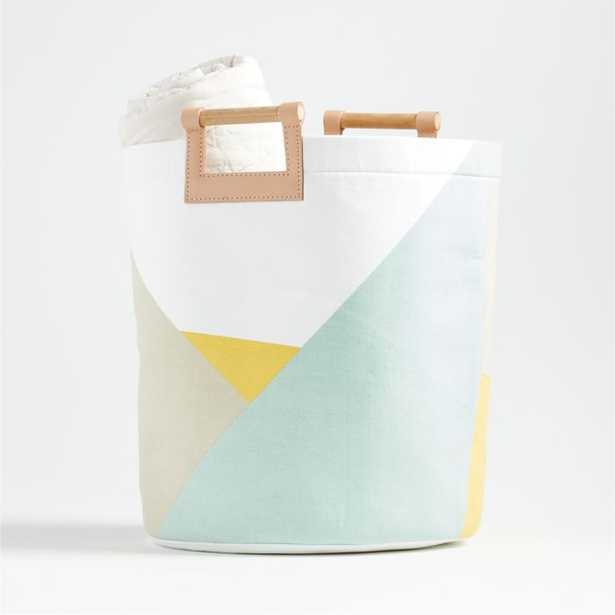 Abstract Round Floor Bin - Crate and Barrel
