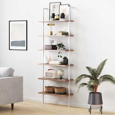 "Dawud 85"" H x 30"" W Metal Ladder Bookcase - Wayfair"