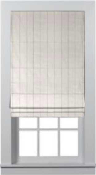 Custom Roman Shades- Linen Stripe Vanilla Stone 1063 - Home Depot
