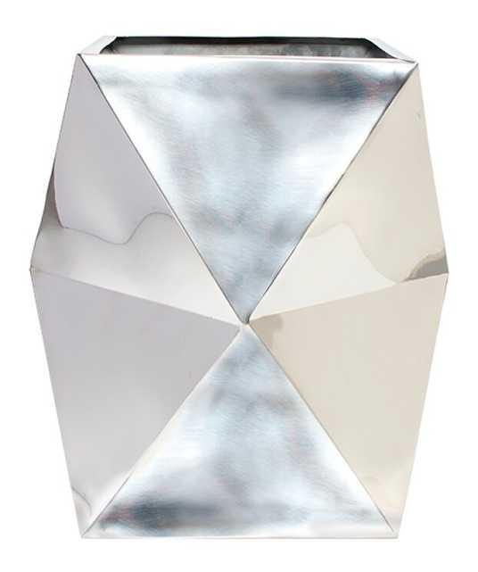 Staats Polygon Floor Stool Stainless Steel Pot Planter - Wayfair