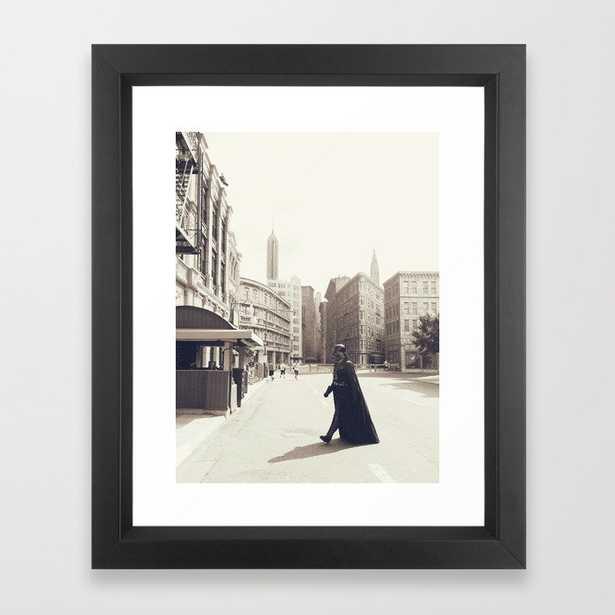 Darth Vader Does New York Framed Art Print by Chris Petescia - Society6