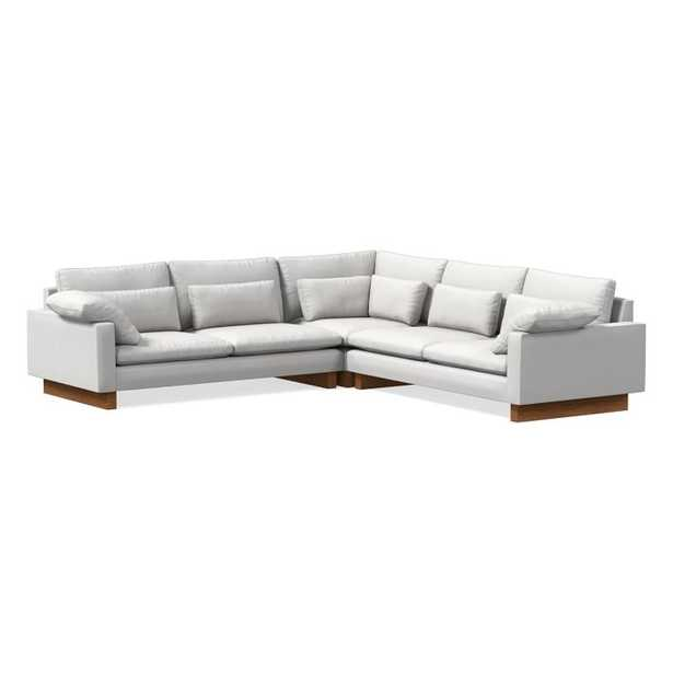 """Harmony 3-Piece L-Shaped Sectional, Eco Weave Oyster, 41"""" Depth - West Elm"""