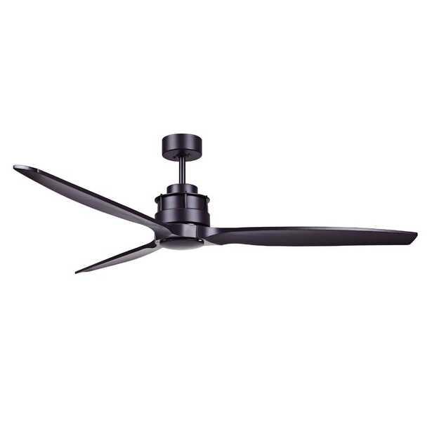 "60"" Adamski 3 - Blade Propeller Ceiling Fan with Remote Control - Wayfair"