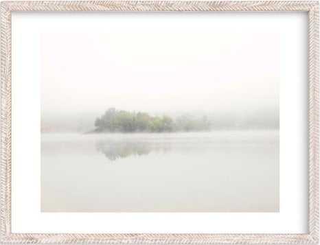 """the island - 18"""" x 24"""" - Whitewashed Herringbone Frame- White Border - Minted"""