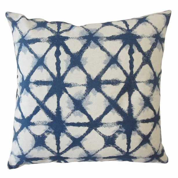 Gerica Ikat Pillow Denim - 20x20, poly insert - Linen & Seam