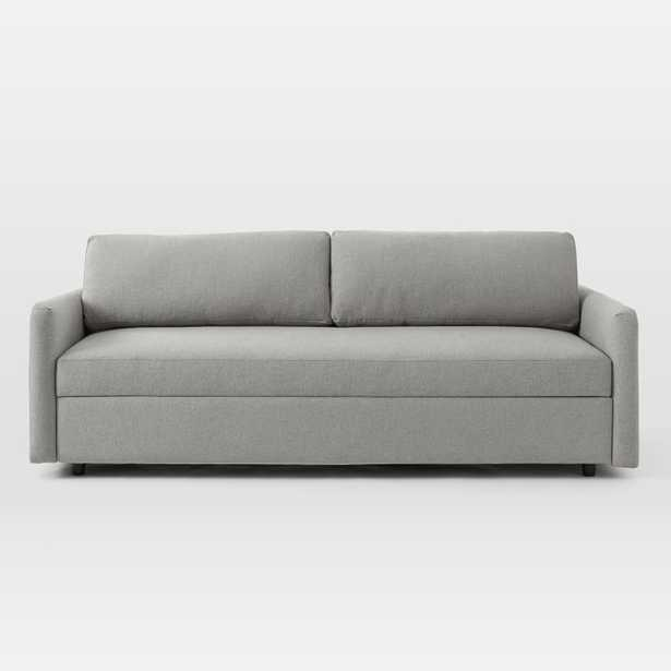 Clara Sleeper Sofa, Chenille Tweed, Feather Gray, Concealed Supports - West Elm