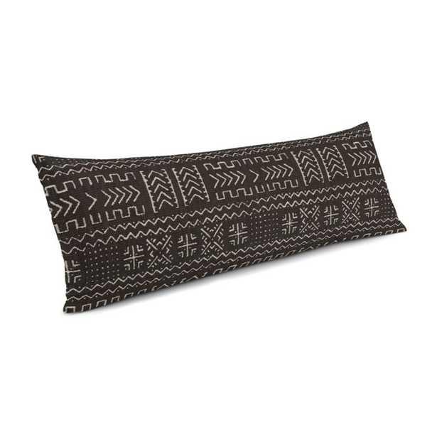 Play Tribal - Black Large Lumbar Pillow - down insert - Loom Decor
