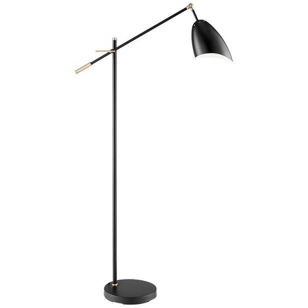 Lite Source Tanko Black Adjustable Reading Floor Lamp - Lamps Plus