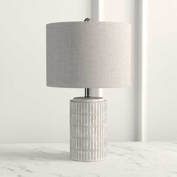 Chorale 21'' Distressed Gray/White Table Lamp - Wayfair