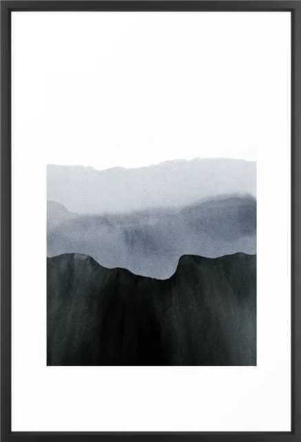 mountain horizon 2 Framed Art Print - Society6
