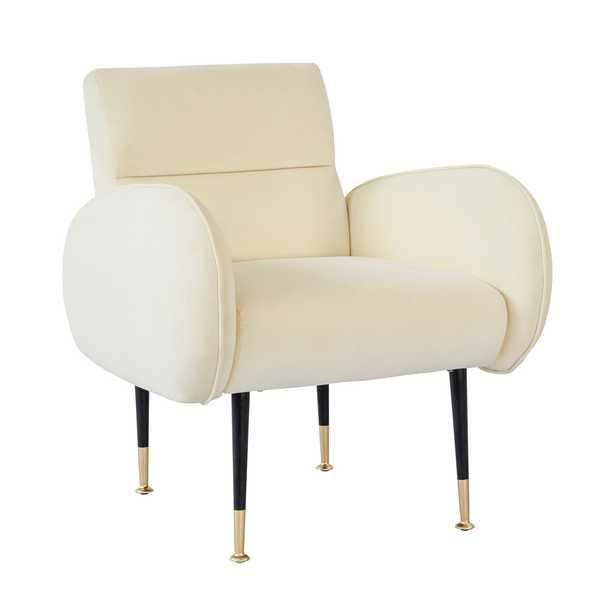 Babe Custard Velvet Chair - Maren Home