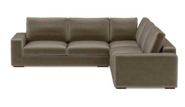 Ainsley Corner Sectional with Quartz Fabric and Oiled Walnut legs - Interior Define