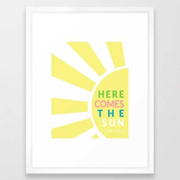 """Here Comes the Sun Framed Art Print // 20x26"""" // Vector White frame - Society6"""