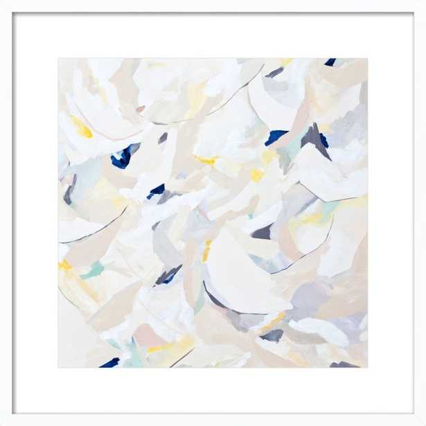 White Walls BY BRITT BASS TURNER - 24 x 24 - White Wood Frame with Matte - Artfully Walls