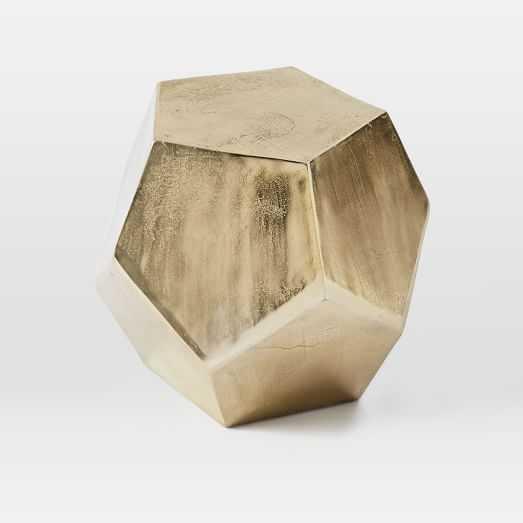 Gem Cut Side Table, Brass - West Elm