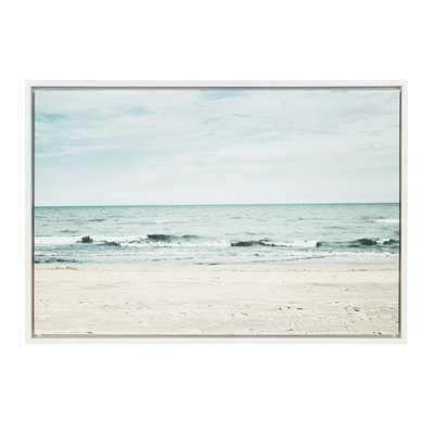 'Beach 2' Framed Photographic Print on Canvas - Wayfair