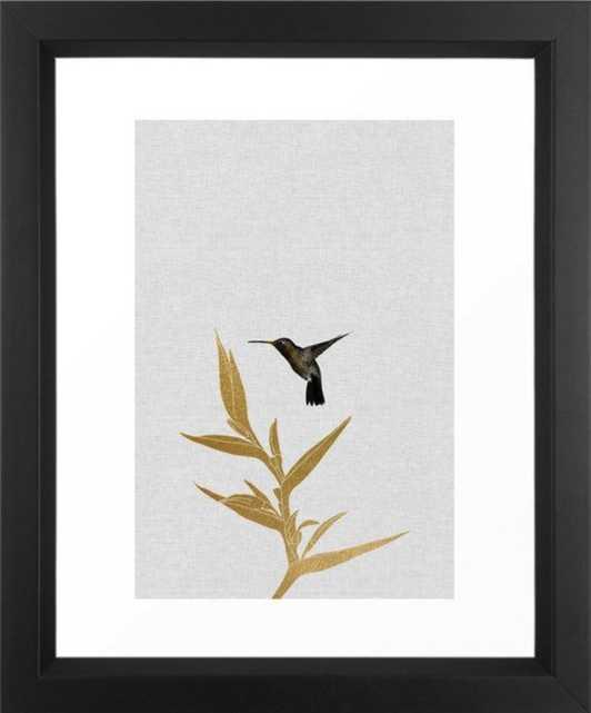 Hummingbird & Flower II Framed Art Print - Society6