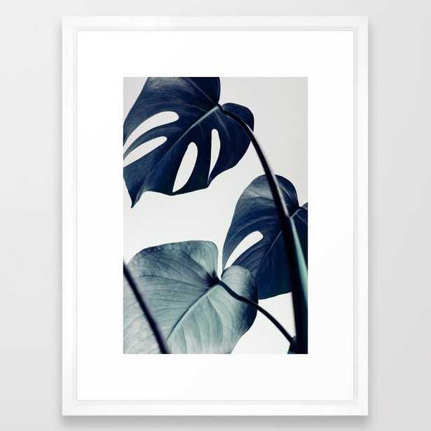 """Botanical Vibes II FRAMED ART PRINT- Vector White, 20"""" x 26"""" - Society6"""