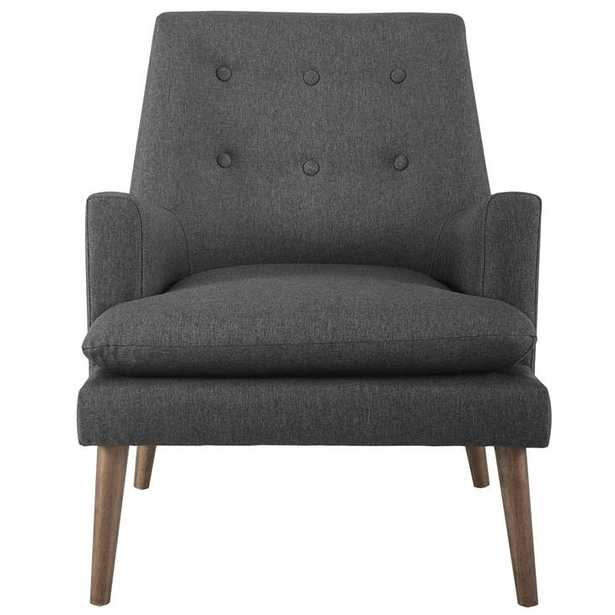 Leisure Upholstered Lounge Chair in Gray - Modway Furniture