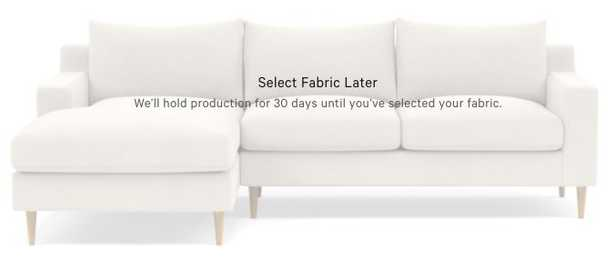 """SLOAN Left Chaise Sectional - DECIDE LATER - 104"""" - Interior Define"""