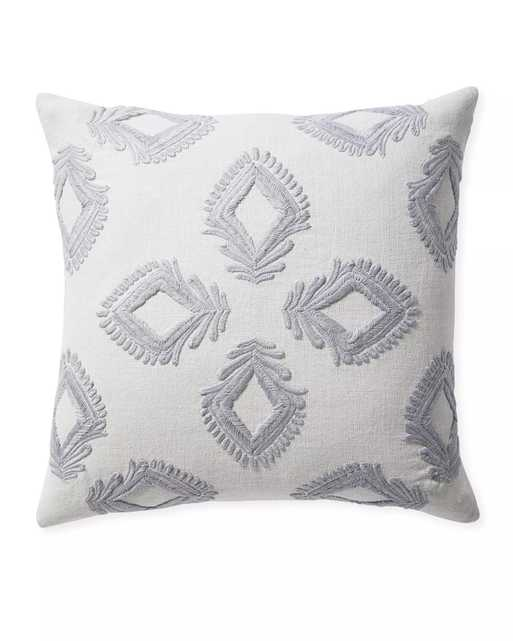 """Leighton Pillow Cover - Fog - 24"""" x 24"""" - Insert Sold Separately - Serena and Lily"""