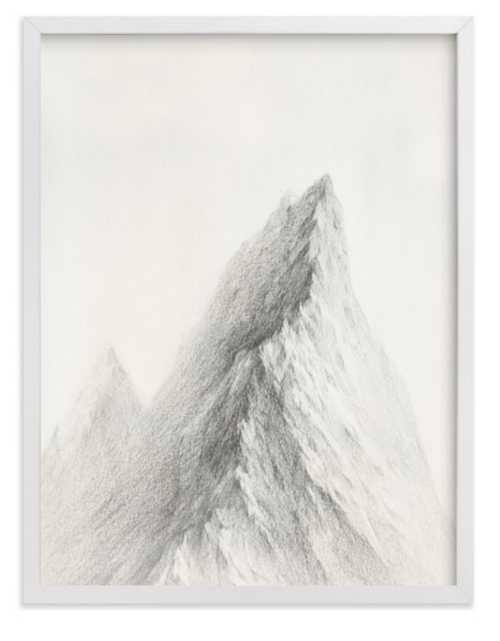 """Mt. Winterfell, 18"""" x 24"""", white wood frame - Minted"""