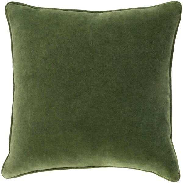 Baylie Square Cotton Velvet Pillow Cover - Wayfair
