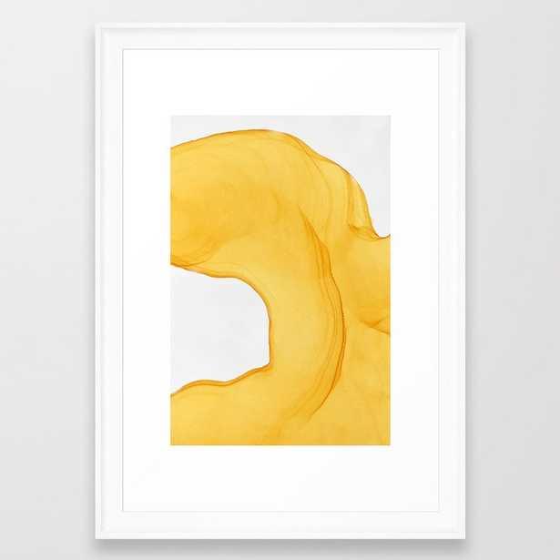 Yellow Ink Framed Art Print - Society6