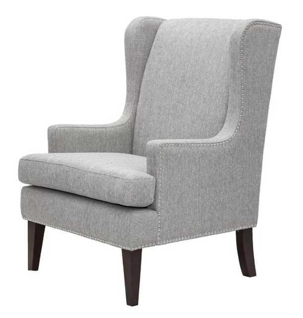 Apple Valley Wingback Chair in Gray - Wayfair