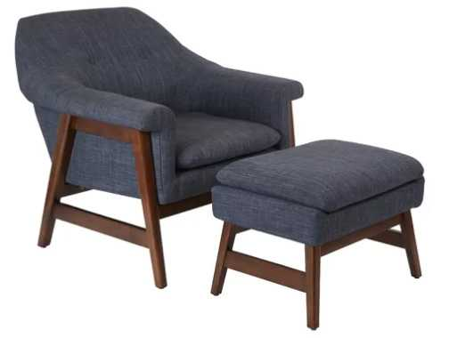 Wilber Lounge Chair and Ottoman - AllModern