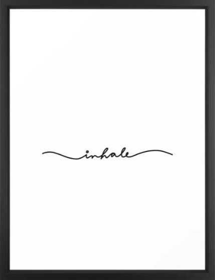 inhale Framed Art Print - Society6