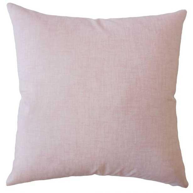 "Baojin Plaid Pillow Pink - Euro Sham, Cover Only, 26"" - Linen & Seam"