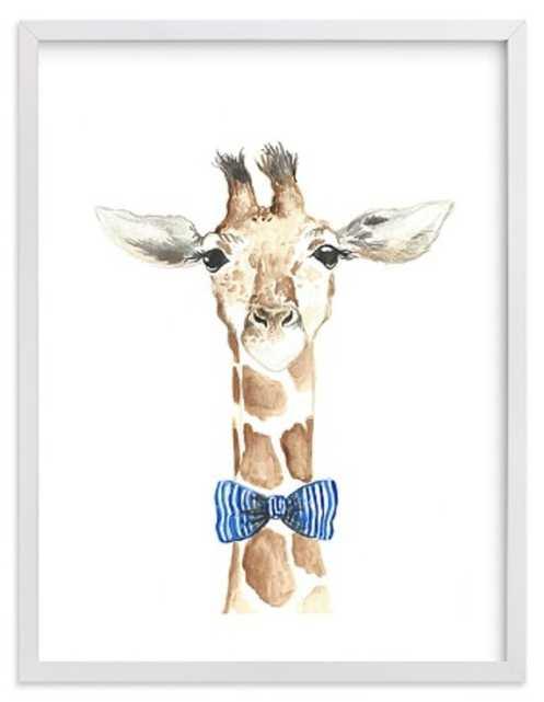 Dapper Giraffe Wall Art By Minted® 18x24 - Pottery Barn Kids