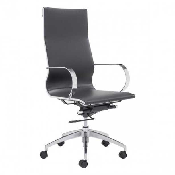 Glider Hi Back Office Chair Black - Zuri Studios