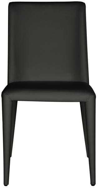 Garretson 18'' Leather Side Chair (Set of 2) - Black - Arlo Home - Arlo Home