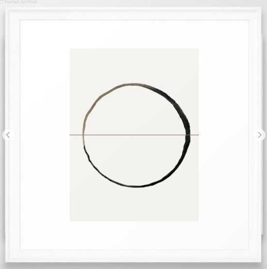 C7 Framed Art Print- Scoop White - Society6