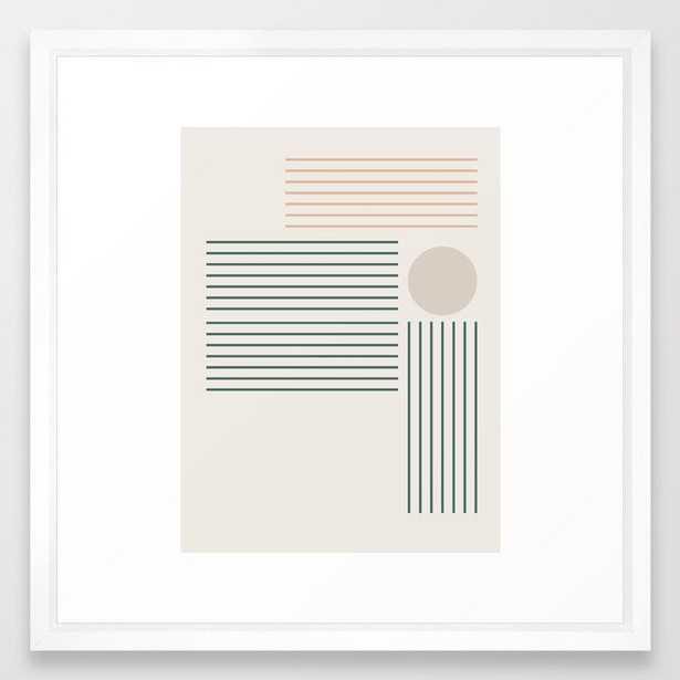 Lines & Circle 03 Framed Art Print - Society6