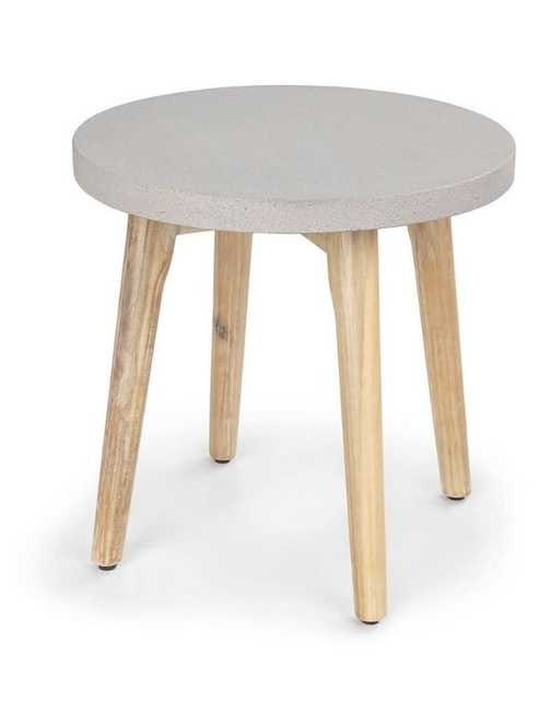 atra concrete round side table - Article