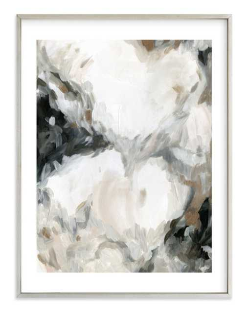 """mesmerize  - 30"""" x 40"""" - champagne silver frame with border - Minted"""