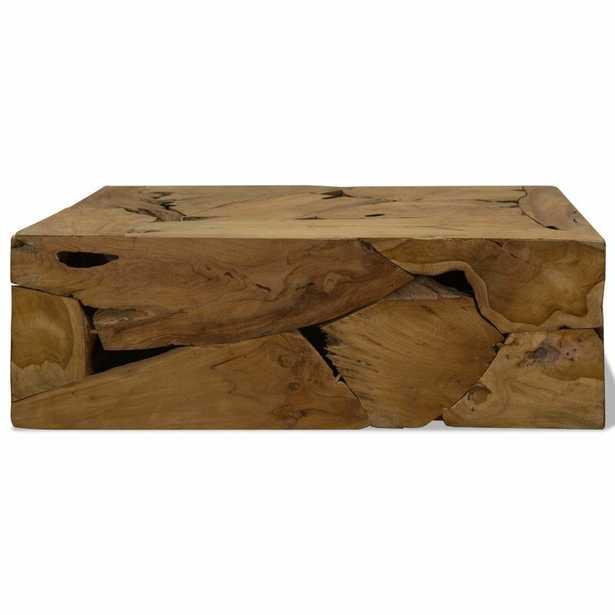 Rea Solid Wood Drum Coffee Table - Wayfair