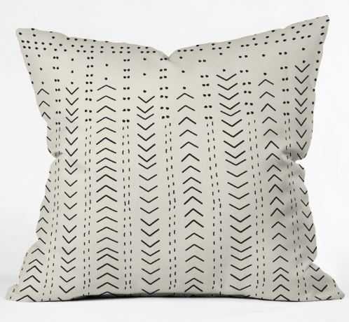 "Iveta Abolina Mud Cloth Inspo VIII Throw Pillow WITH INSERT- 18"" - Wander Print Co."