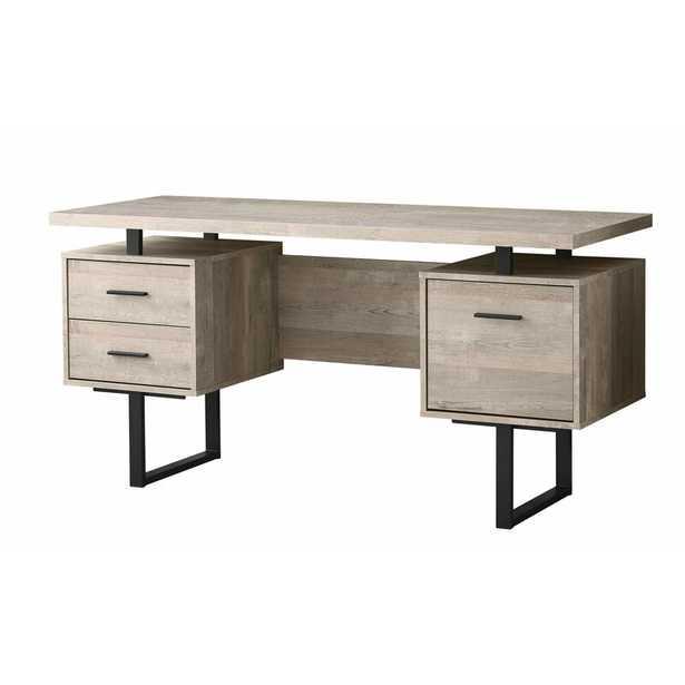 Schumacher Credenza Desk - Taupe - Wayfair