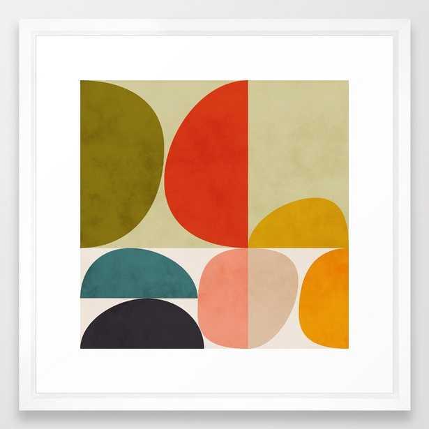 shapes of mid century geometry art Framed Art Print by Ana Rut Bre - Society6