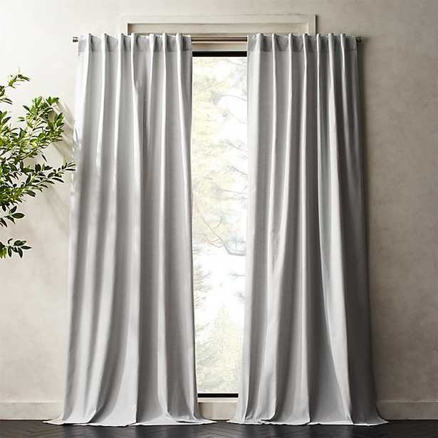 "Silver Grey Basketweave II Curtain Panel 48""x96"" - CB2"